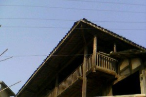 Two-story wooden building